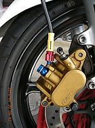 Brake hose exchange of VTR 250